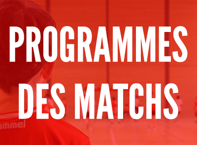 Programme des matchs du week-end du 15/16 Septembre