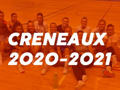 Créneaux 2020/2021