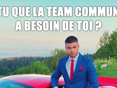 Rejoins la team com' !